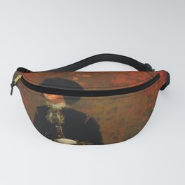 Winslow Homer's Red Autumn Leaves and Foliage female portrait painting bedroom wall decor Fanny Pack