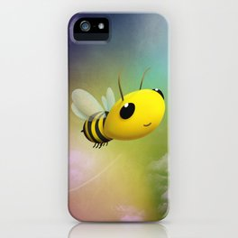 Bee Flying On Colour Sky iPhone Case