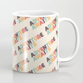 Retro Adventure Awaits Typography Coffee Mug