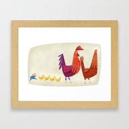 Nerw Morning Parade Framed Art Print