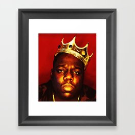 Biggie Smalls Framed Art Print