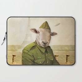 Private Leonard Lamb visits Paris Laptop Sleeve
