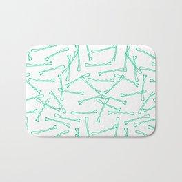 BOBBY PINS ((emerald)) Bath Mat