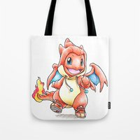 projectrocket Tote Bags featuring Y the Sudden Change of Heart? by Randy C