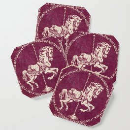 Vintage Carousel Horse - Mulberry Coaster