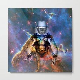 Astronaut Disintegration Metal Print