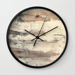 Wood shipboard repairing Wall Clock