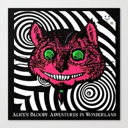 Cheshire Cat in Vortex Canvas Print