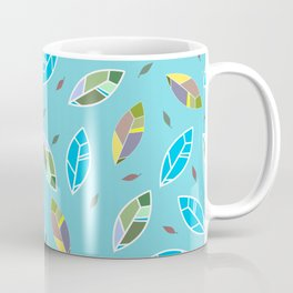 Abstract feathers seamless pattern, textile, surface pattern Coffee Mug