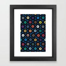 VINYL blue Framed Art Print