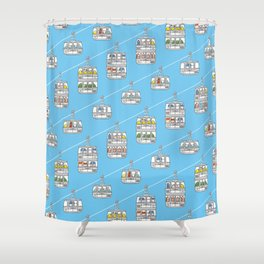 """Pop and Pals: UP, UP, UP! ""  Shower Curtain"