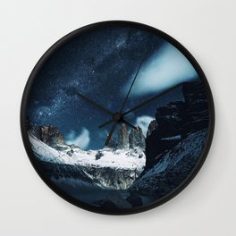 Torres del Paine National Park, Patagonia, Chile Wall Clock