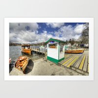 rowing Art Prints featuring Rowing Boats at Ambleside  by Rob Hawkins Photography