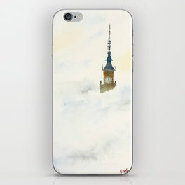 Palace of Culture in clouds Warsaw iPhone Skin