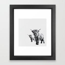 HIGHLAND COW - LULU & SARA Framed Art Print