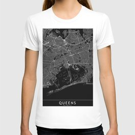 Queens Black Map T-shirt