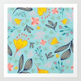 Spring Flowers Style A Art Print