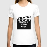 netflix T-shirts featuring Netflix Killed Hollywood by Katie Gaughan