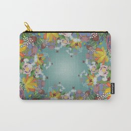 Encircled Garden (Light Teal) Carry-All Pouch