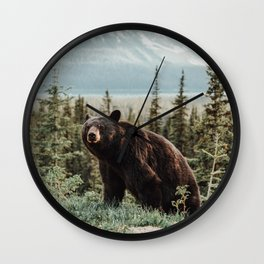 Bear Bear Wall Clock