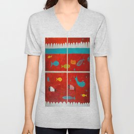 In the clouds Unisex V-Neck