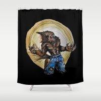 werewolf Shower Curtains featuring Werewolf ! by Patricia Pedroso