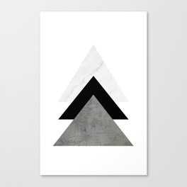 Arrows Monochrome Collage Canvas Print