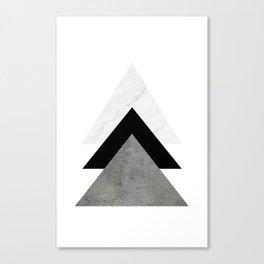 Arrows Monochrome Collage Canvas Print