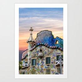 Gaudi Facade Art Print
