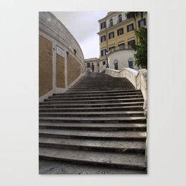 Up the Top of the Spanish Steps Canvas Print