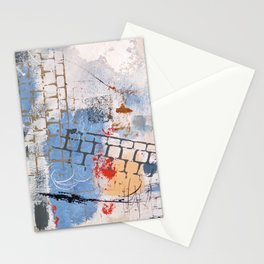 Breaking Down The Walls Blue Abstract Stationery Cards