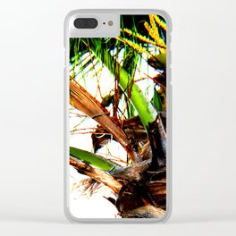 Artsy Coconuts Clear iPhone Case