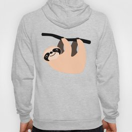 Cute Sloth Climbing Retro Cartoon Hoody