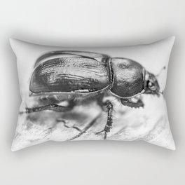 Black Beetle Rectangular Pillow