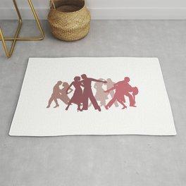 Latin Dancers Illustration Rug