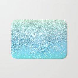 Seafoam Aqua Ocean MERMAID Girls Glitter #1 #shiny #decor #art #society6 Bath Mat