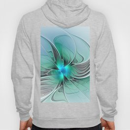 Abstract With Blue 2, Fractal Art Hoody