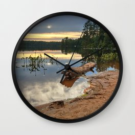 Nicks Lake Sunset Wall Clock