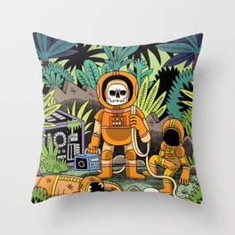 Lost contact Throw Pillow