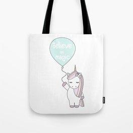 Believe in magic cute unicorn Tote Bag