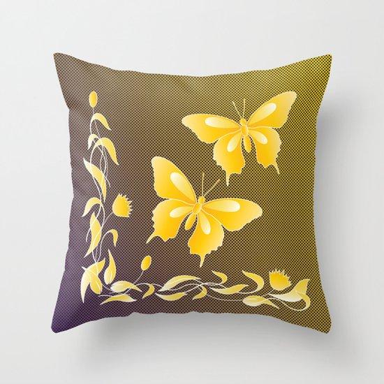 Fly At Dwan Throw Pillow