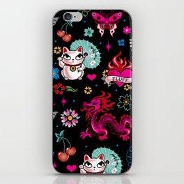 Lucky Cat Maneki Neko , Dragons and Koi fish iPhone Skin