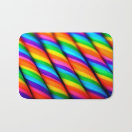 Rainbow Candy : Candy Canes Bath Mat