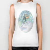 aquarius Biker Tanks featuring Aquarius by Aline Souza de Souza