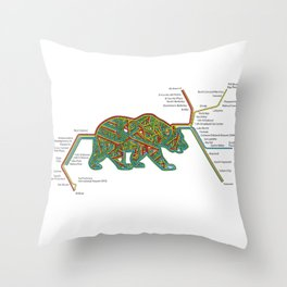 The Bear Area Throw Pillow