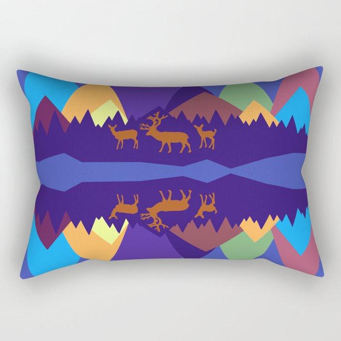 Mountain Scene #3 Rectangular Pillow