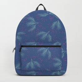 Hanging Herb Leaves Bunch Pattern, Seamless Vector Repeat Background Backpack
