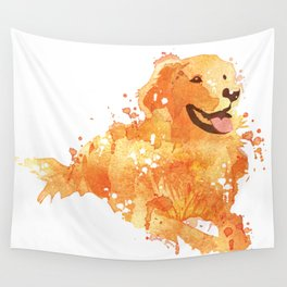 Golden Retriever Wall Tapestry