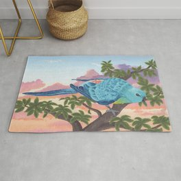 Red-Rumped Parrot at Sunset Rug