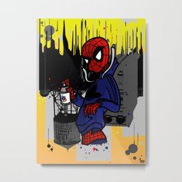 Spidey Can Metal Print